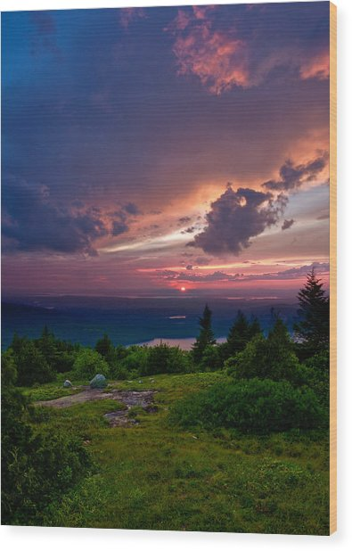 Acadia Sunset 47150 Wood Print
