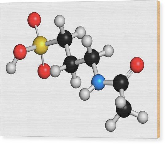Acamprosate Alcoholism Treatment Drug Wood Print by Molekuul