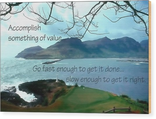 Accomplish Value 21168 Wood Print