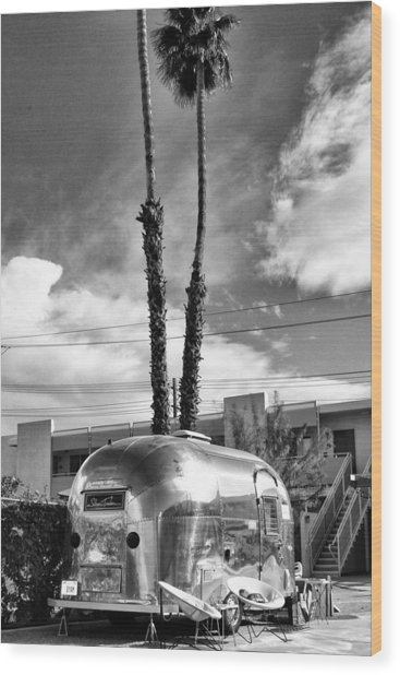 Ace Trailer Palm Springs Wood Print