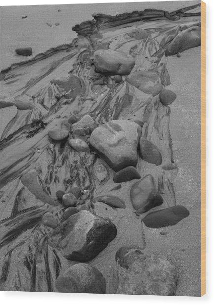 Achnahaird Beach Bw Wood Print