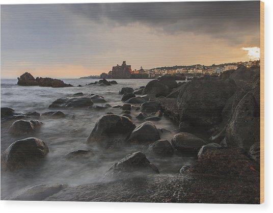 Acicastello Wood Print