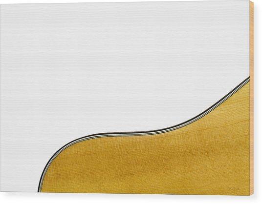 Acoustic Curve Wood Print