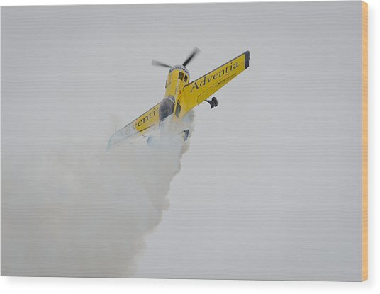 Aerobatics At Cuatro Vientos II Wood Print