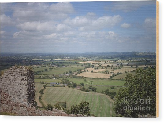 Across Cheshire From Beeston Castle England Wood Print
