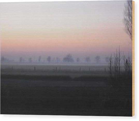 Across The Fen Wood Print