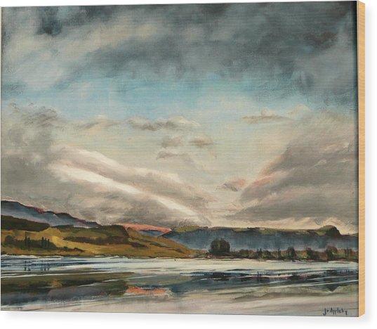 Across The Loch Wood Print