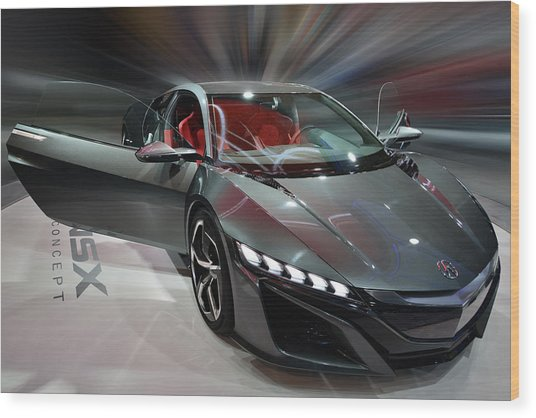 Acura Nsx Concept 2013 Wood Print