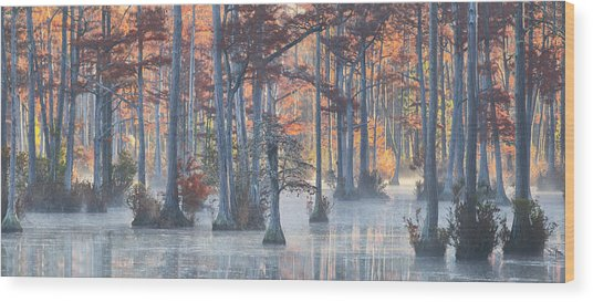 Adams Mill Pond Panorama 11 Wood Print