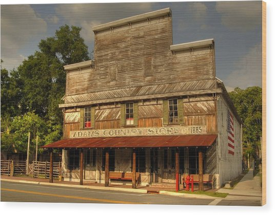 Adams Old Country Store Wood Print