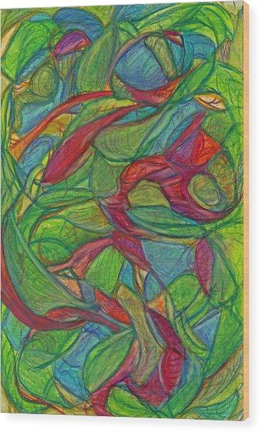 Adapt Or Perish Wood Print