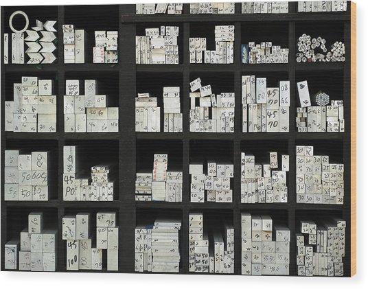 Address Wood Print by Donghee, Han