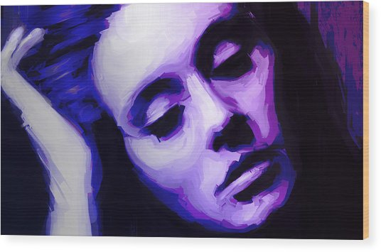 Wood Print featuring the painting Adele by Jennifer Hotai