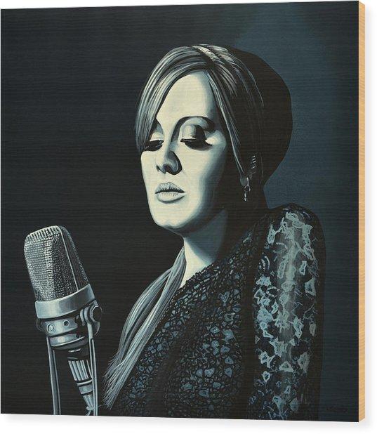 Adele 2 Wood Print