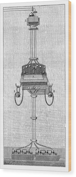 Ader Telephone Station Wood Print by Science Photo Library