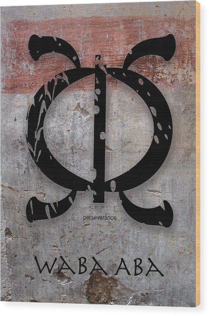 Adinkra Waba Aba Wood Print