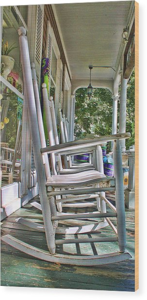 Adirondack Chairs At Skaneateles Ny Wood Print
