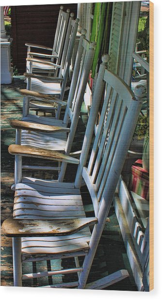 Adirondack Chairs Skaneateles Ny Wood Print