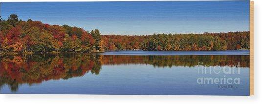 Adirondack October Wood Print