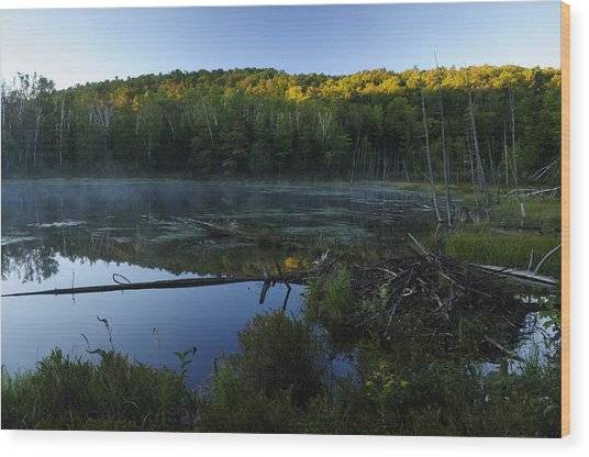 Adirondack Sunrise Wood Print