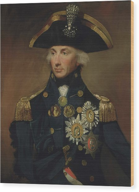 Admiral Horatio Nelson Wood Print