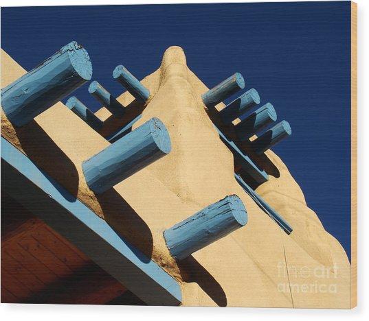 Adobe Graphic Wood Print by Eva Kato