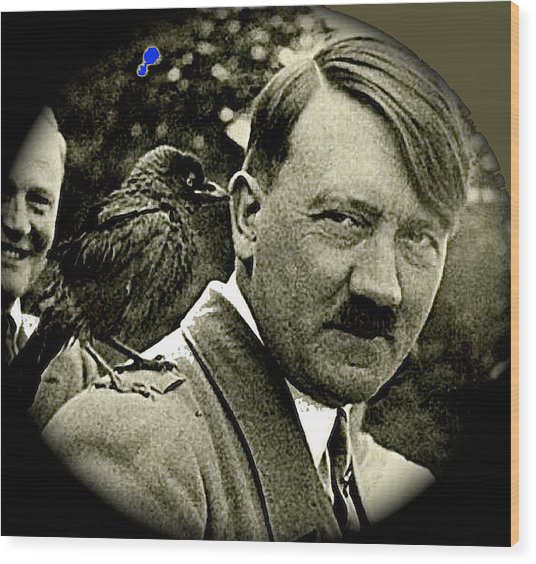 Adolf Hitler And A Feathered Friend C.1941-2008 Wood Print