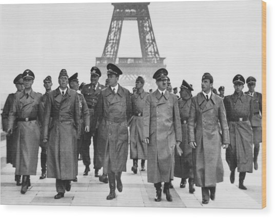 Adolf Hitler Touring Conquered Paris Wood Print by Everett