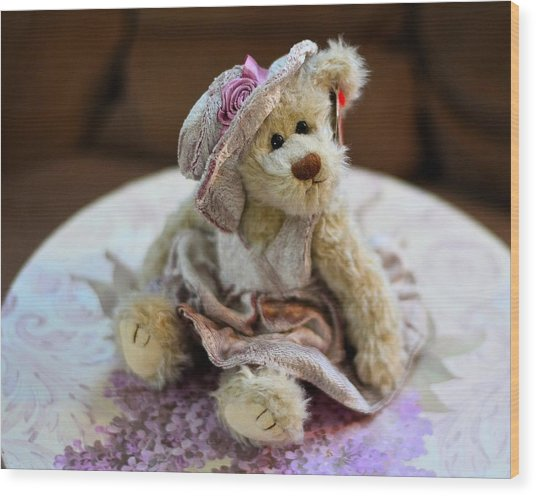 Adorable Little Teddy Bear Wood Print
