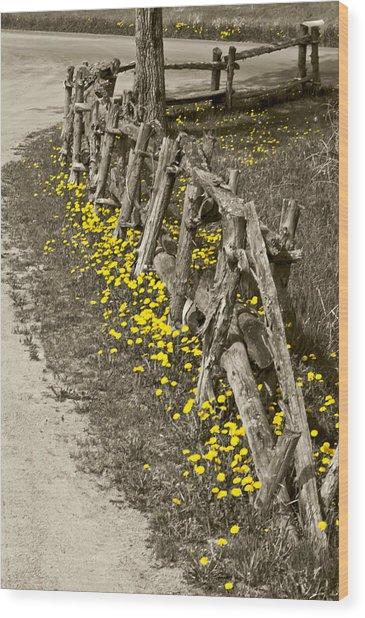 Adorned Split-rail Wood Print