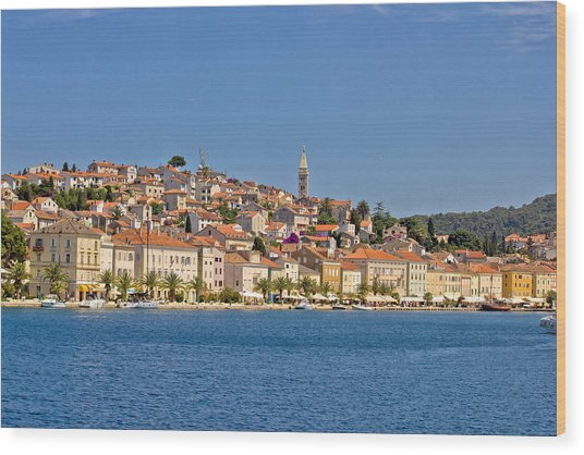 Adriatic Town Of Mali Losinj View From Sea Wood Print