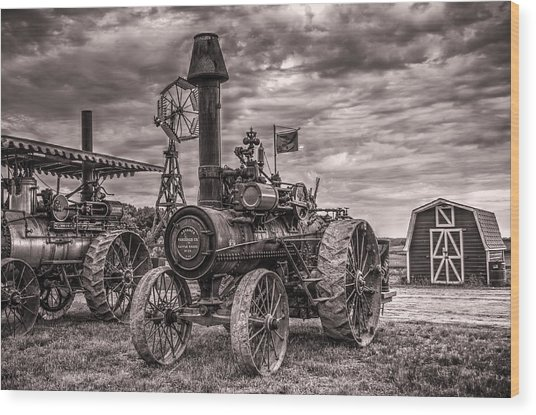 Advance Steam Traction Engine Wood Print
