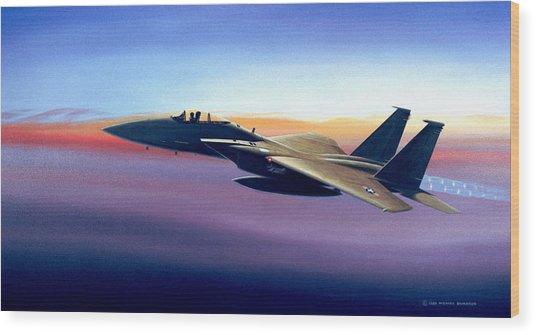 Advantage Eagle Wood Print by Michael Swanson