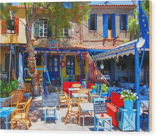 Aegean Colors Wood Print