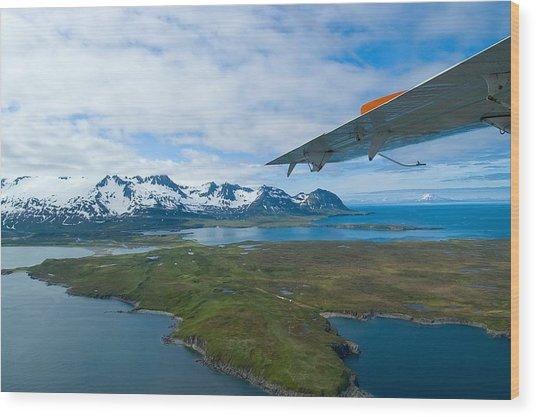 Aerial Alaska Wood Print