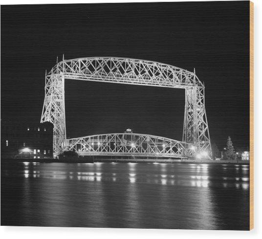 Aerial Lift Bridge Duluth Minnesota Wood Print