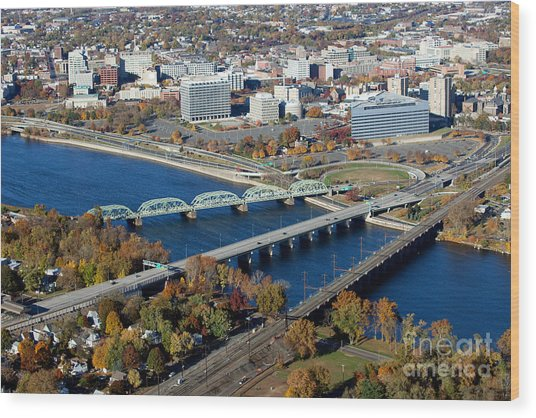 Aerial Skyline Of Trenton New Jersey Photograph By Bill Cobb