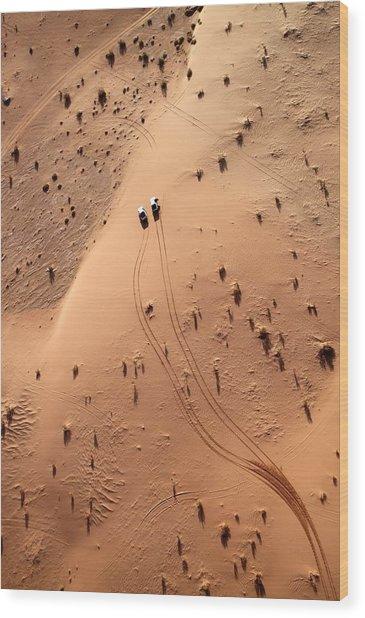 Aerial View Of Cars Driving Through Wood Print by Claudia Fernandes / Eyeem