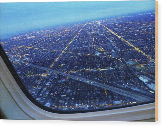 Aerial View Of Cityscape Seen Through Wood Print by Sujata Jana / Eyeem