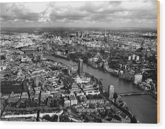 Aerial View Of London Wood Print