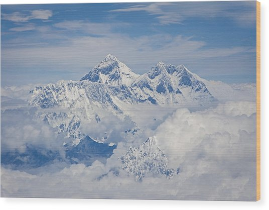 Aerial View Of Mount Everest, Nepal, 2007 Wood Print