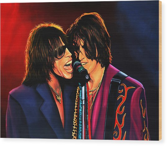 Aerosmith Toxic Twins Painting Wood Print