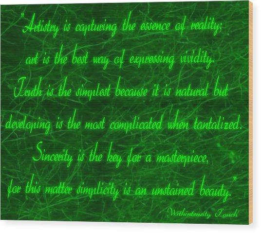 Aesthetic Quote 1 Wood Print