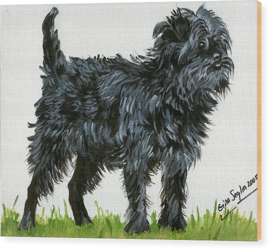 Affenpinscher Dog Wood Print by Olde Time  Mercantile