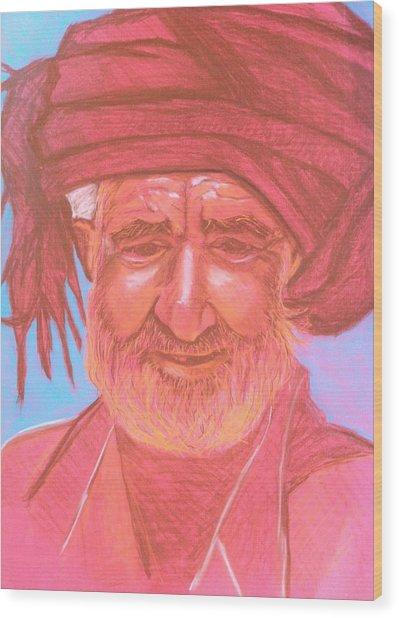 Afghan Man Wood Print