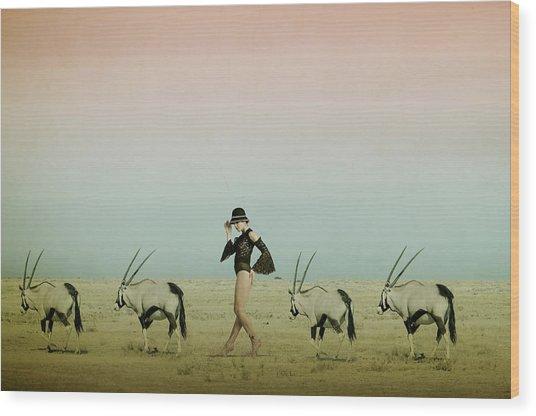 Africa Iv Wood Print by Christine Von Diepenbroek