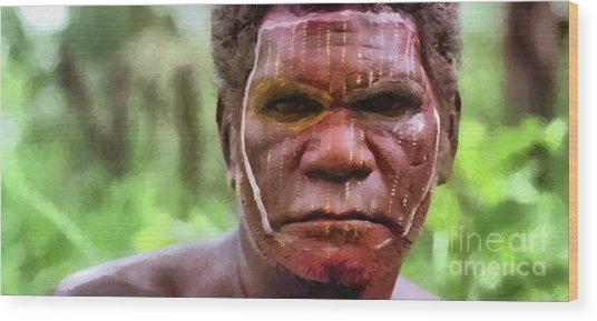 African Man Wood Print