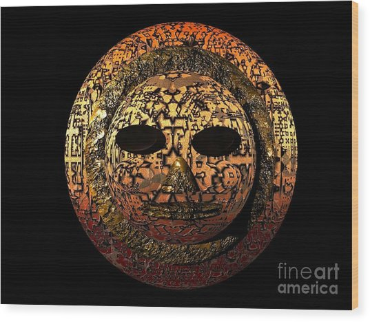African Mask Series 1 Wood Print