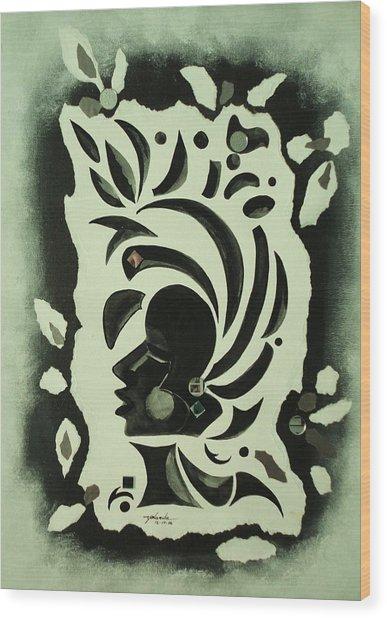 African Queen Wood Print