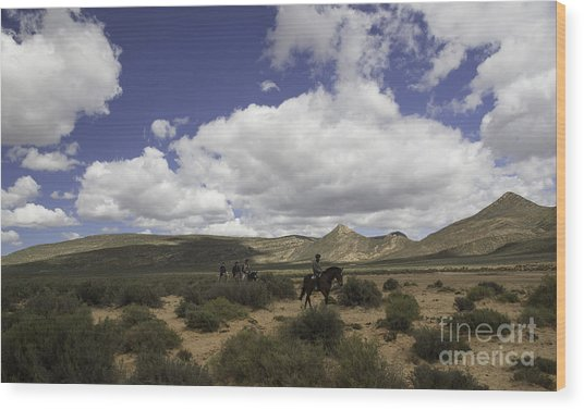 African Trail Ride Wood Print